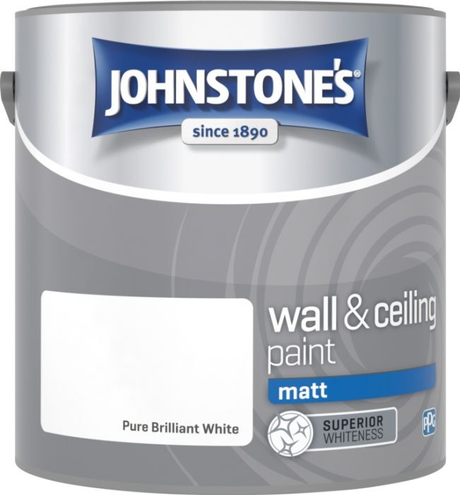 Johnstone's Wall & Ceiling Matt 2.5L Brilliant White