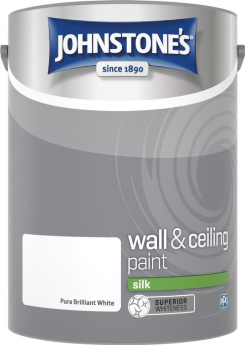 Johnstone's Wall & Ceiling Silk 5L Brilliant White