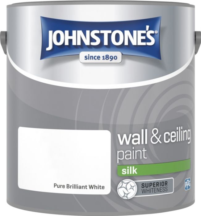 Johnstone's Wall & Ceiling Silk 2.5L Brilliant White