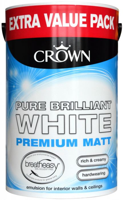 Crown Matt Emulsion 6L Pure Brilliant White