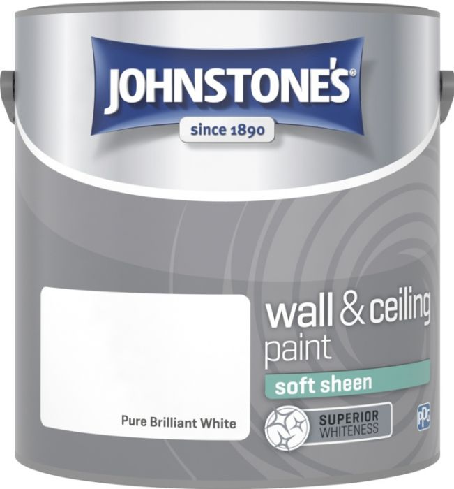 Johnstone's Wall & Ceiling Soft Sheen 2.5L Brilliant White