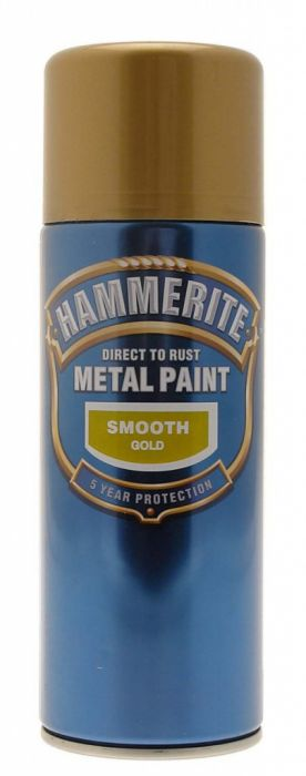 Hammerite Metal Paint 400Ml Aerosol Smooth Gold