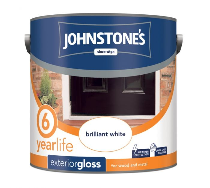 Johnstone's Exterior Hardwearing Gloss - Brilliant White 2.5L
