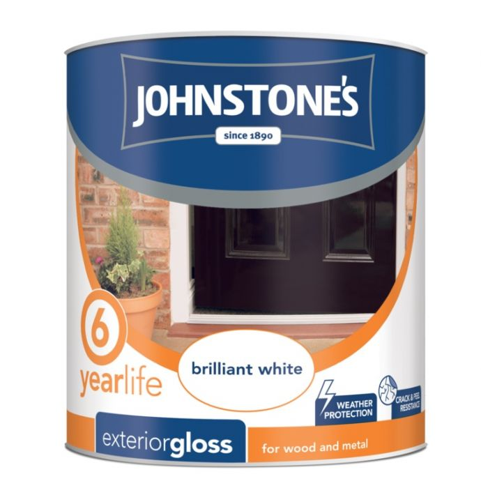 Johnstone's Exterior Hardwearing Gloss - Brilliant White 750Ml