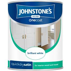 Johnstone's Quick Dry Satin 750Ml Brilliant White