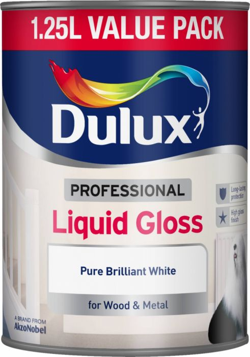 Dulux Professional Liquid Gloss 1.25L Pure Brilliant White