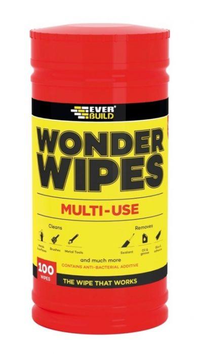 Everbuild Wonder Wipes Tub Of 100