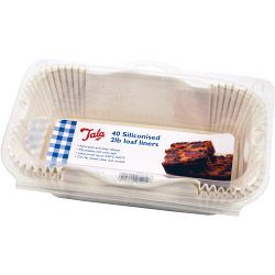 Tala Siliconised Greaseproof Loaf Tin Liners (Set Of 40) 2Lb