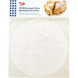 Tala Siliconised 23Cm Cake Circles Greaseproof Liners (Set Of 20)