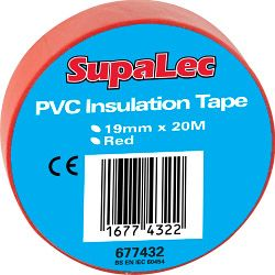 Supalec Pvc Insulation Tapes Pack 10 Red 20 Metre