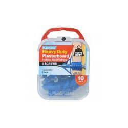 Plasplugs Hd Plasterboard Fixings & Screws 10 Pack