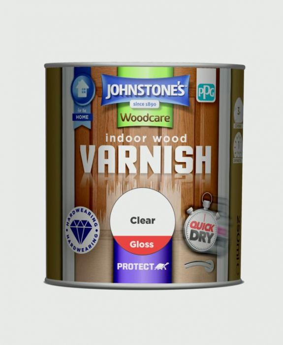Johnstone's Indoor Wood Varnish - Clear Gloss 250Ml