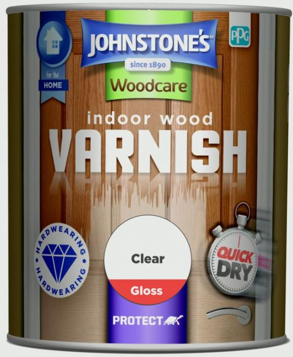 Johnstone's Indoor Wood Varnish - Clear Gloss 750Ml