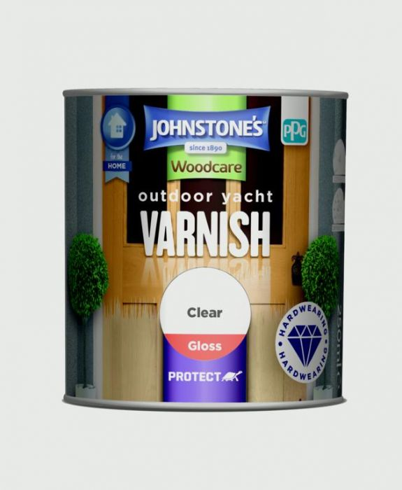 Johnstone's Outdoor Yacht Varnish Gloss 250Ml Clear