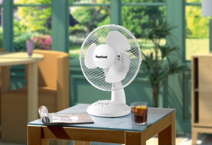 Supacool Oscillating Desk Fan 9 Inch