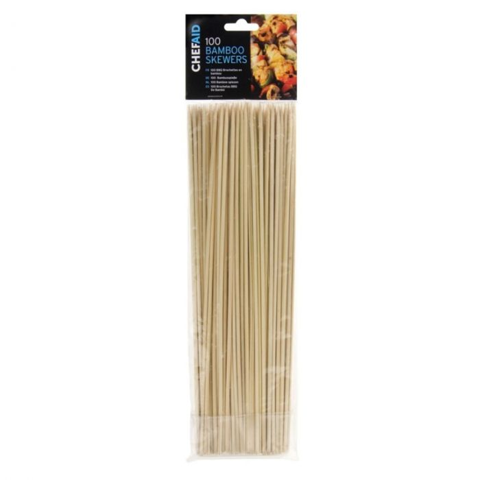 Chef Aid Bamboo Skewers 25.5Cm - Pack Of 100
