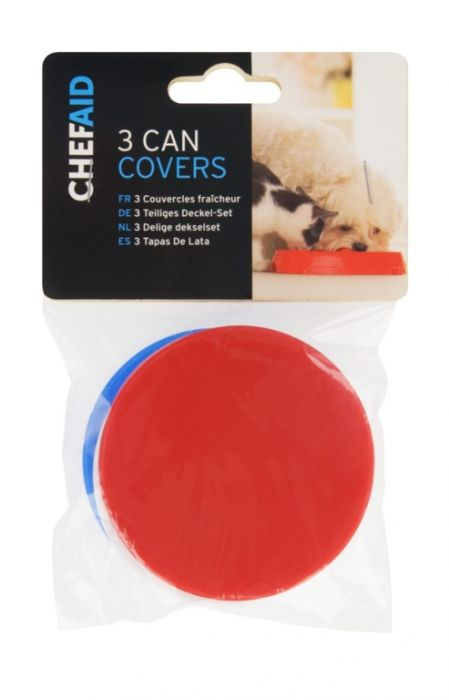 Chef Aid Pet Can Covers (Pack Of 3) 7.5Cm