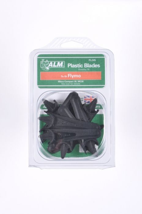 Alm Plastic Blades With Half-Moon Mounting Pack Of 10
