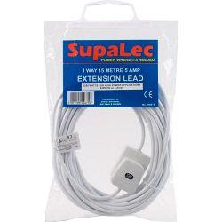 Supalec Extension Lead 1 Gang 15M 5 Amp