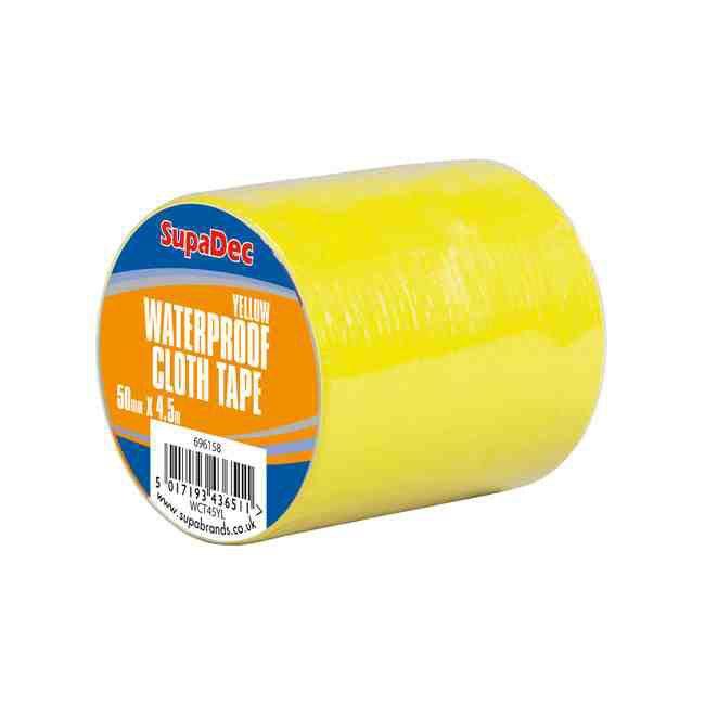 Supadec Waterproof Cloth Tape 48Mm X 4.5M Yellow