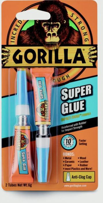 Gorilla Super Glue Tube 2 X 3G