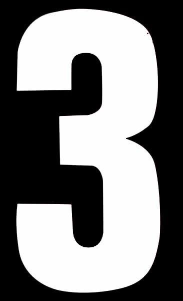 Classic Designs Wheelie Bin Number No 3 Pack 2