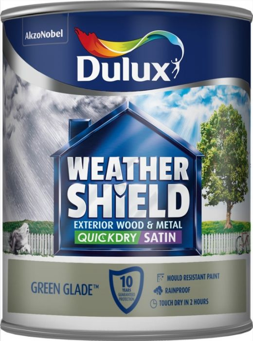 Dulux Weathershield Quick Dry Exterior Satin 750Ml Green Glade