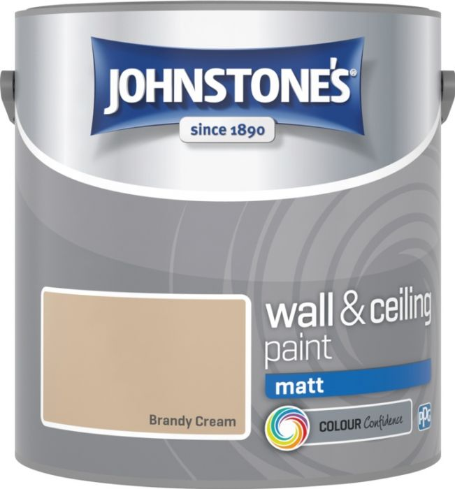 Johnstone's Wall & Ceiling Matt 2.5L Brandy Cream