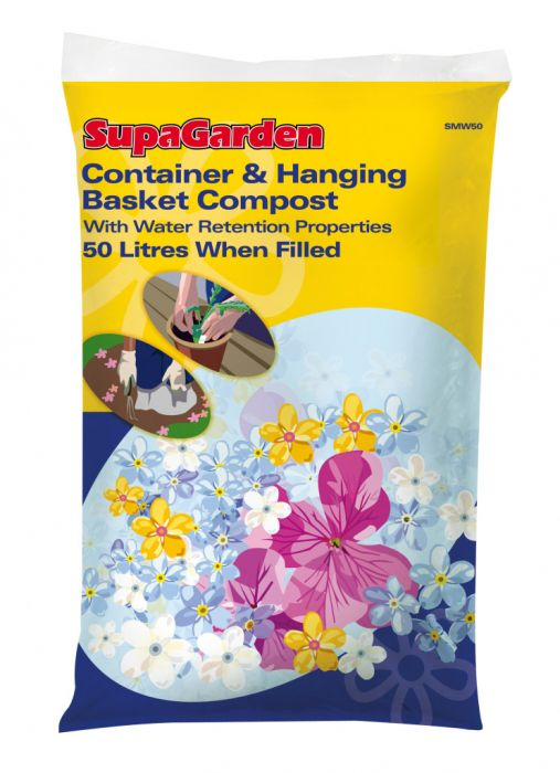 Supagarden Container & Hanging Basket Compost 50L