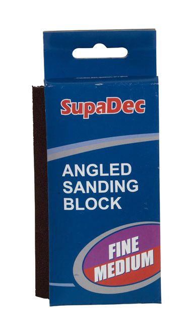 Supadec Angled Sanding Block Fine/Medium