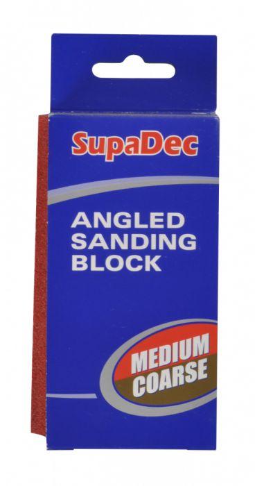 Supadec Angled Sanding Block Medium/Coarse