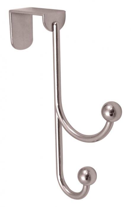 Headbourne 2 Polished Chrome Ball Hooks Over The Door Hanger 20 X 155Mm