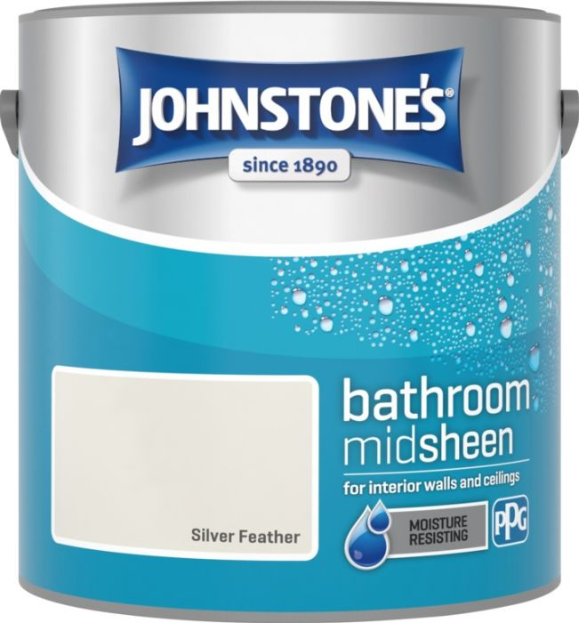 Johnstone's Bathroom Midsheen 2.5L Silver Feather