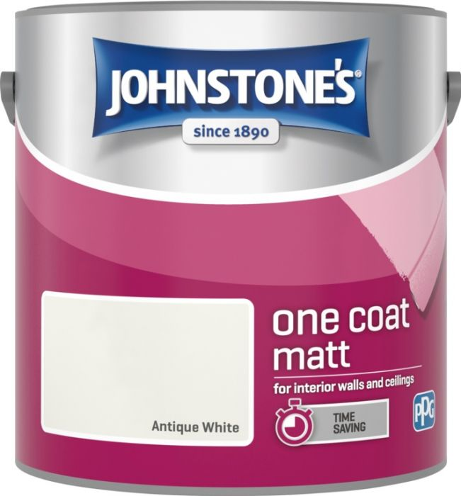 Johnstone's One Coat Matt 2.5L Antique White