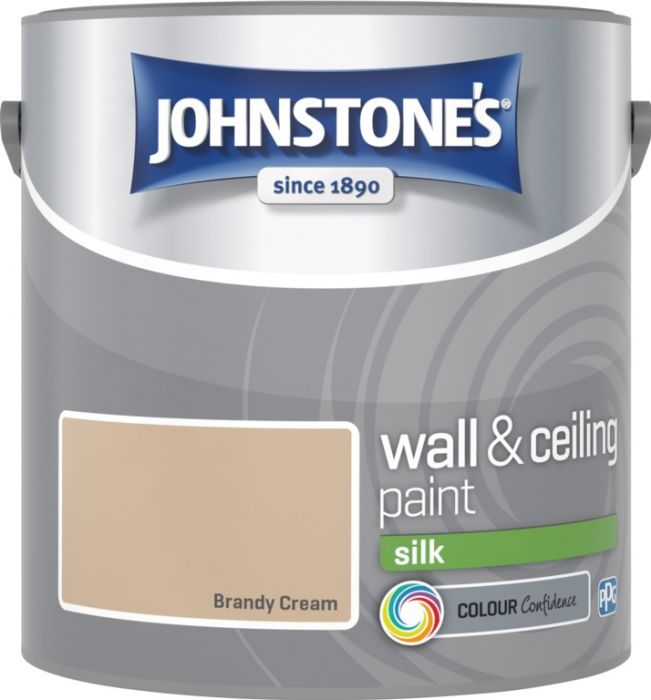 Johnstone's Wall & Ceiling Silk 2.5L Brandy Cream