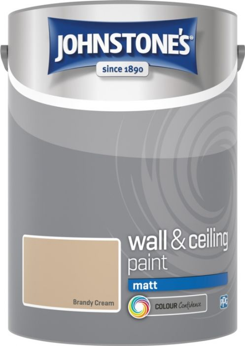 Johnstone's Wall & Ceiling Matt 5L Brandy Cream
