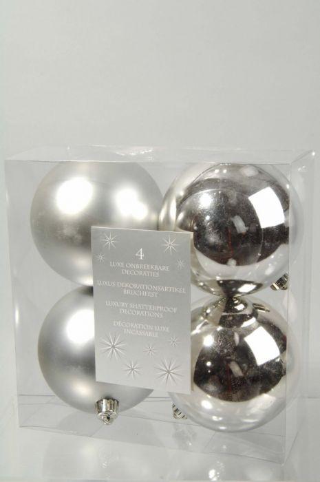 Plain Shatterproof Baubles Pack 4