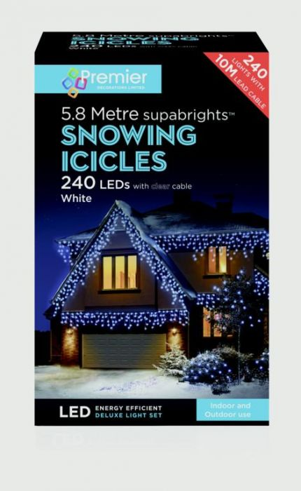 Snowing Icicles 240 Led