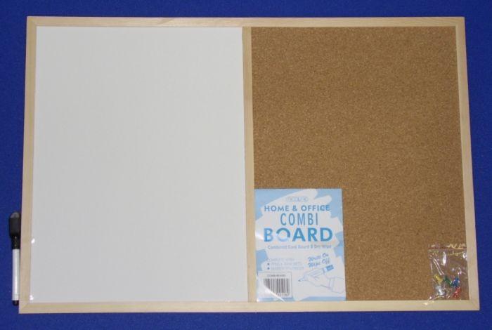 Nicoline Combi Boards (Half Cork / Half Write-On/Wipe-Off) 60Cm X 40Cm