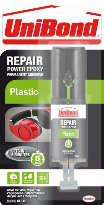 Unibond Repair Plastic Power Epoxy Syringe 25Ml