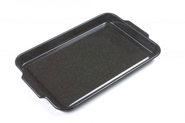 Falcon Falcon Enamel Black Rectangular Baking Tray 38Cm