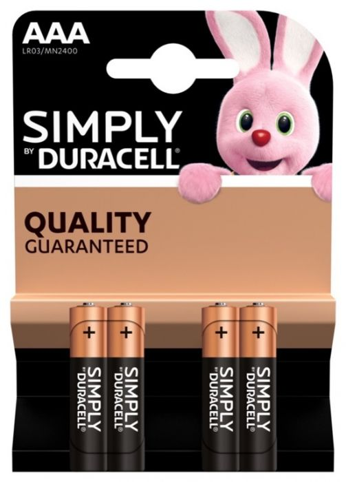 Duracell Simply Aaa Batteries Pack 4