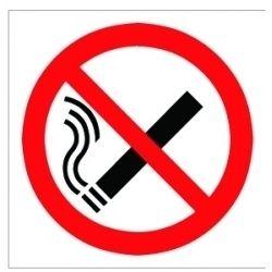 House Nameplate Co No Smoking Symbol Pk2 15X10cm
