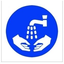 House Nameplate Co Wash Hands Symbol 10X10cm
