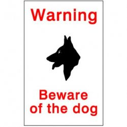 House Nameplate Co Beware Of The Dog 15X10cm