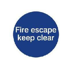 House Nameplate Co Fire Escape Keep Clear 10X10cm