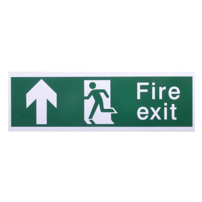 House Nameplate Co Fire Exit With Arrow Forward Forward Arrow