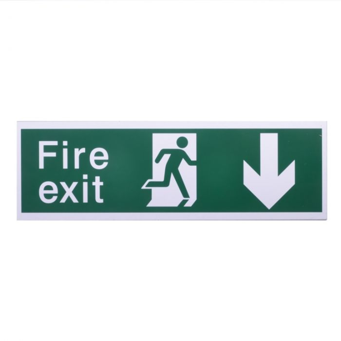 House Nameplate Co Fire Exit With Arrow Back Back Arrow