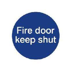 House Nameplate Co Fire Door Keep Shut 10X10cm