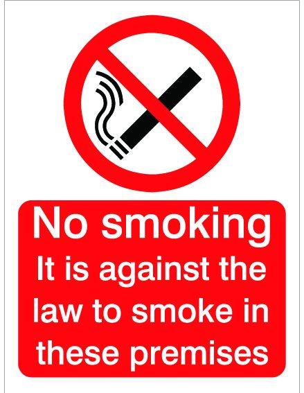 House Nameplate Co Against The Law Smoking 15X20cm